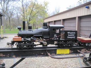 Left side view of 7 1/2 inch Gauge Climax