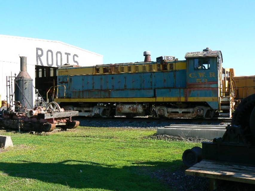 CWR Diesel Number 53 awaiting restoration at Roots of Motive Power