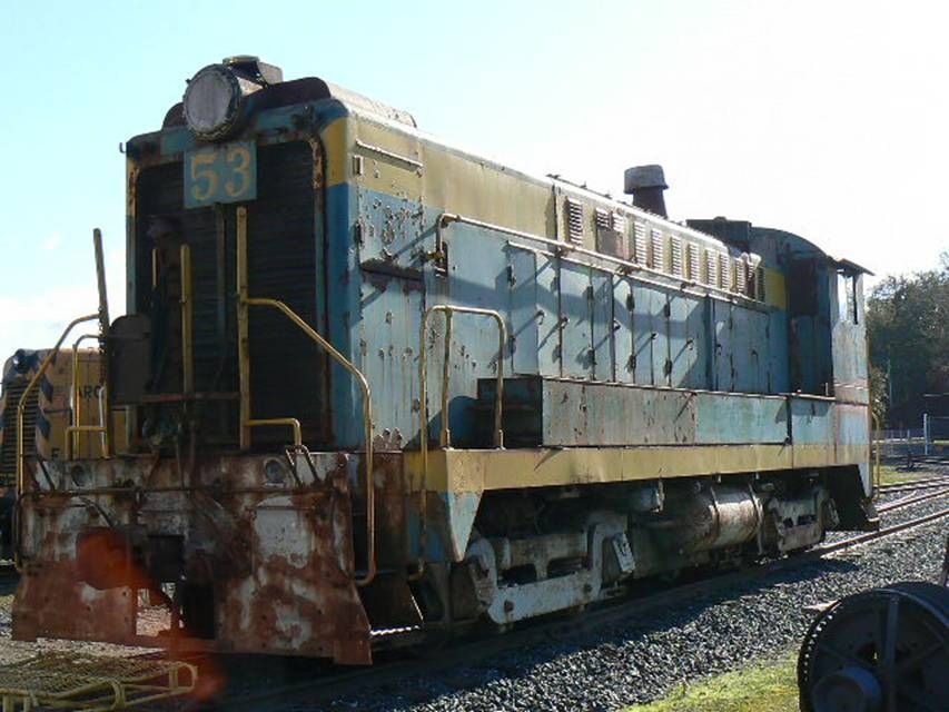 CWR Diesel Number 53 basking in the sun awaiting restoration at Roots of Motive Power