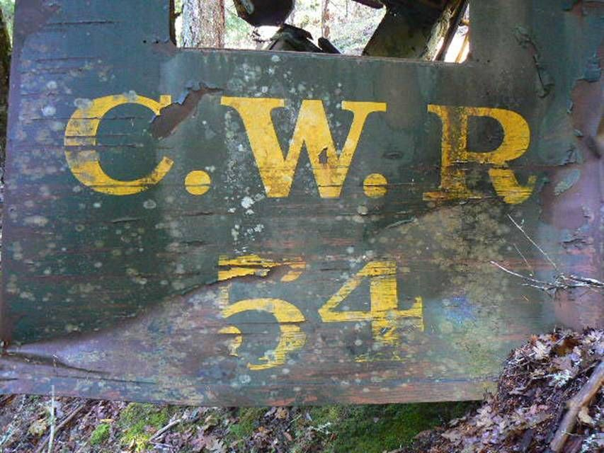 Piece of CWR Diesel Number 54 wrecked in January 1970