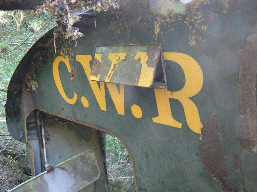 Piece of Cab of CWR Diesel Number 53 wrecked in January 1970