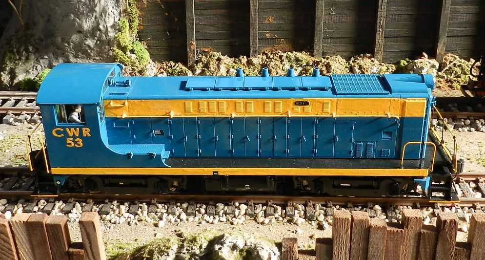 CWR Diesel #53 in her new livery