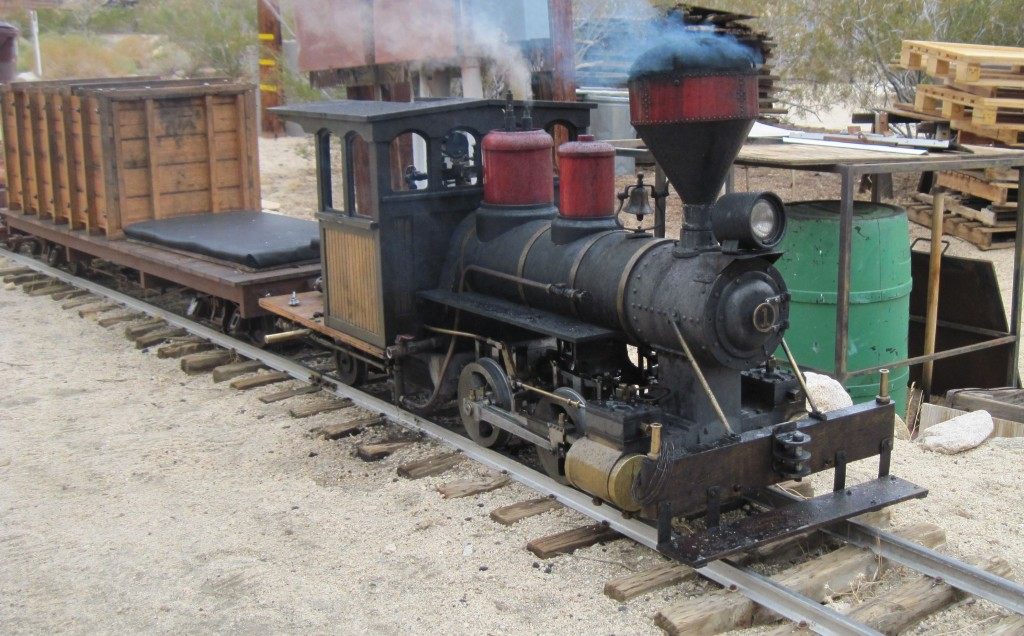 Joshua Tree & Southern Railroad 7 ½ inch Forney waiting to make a run