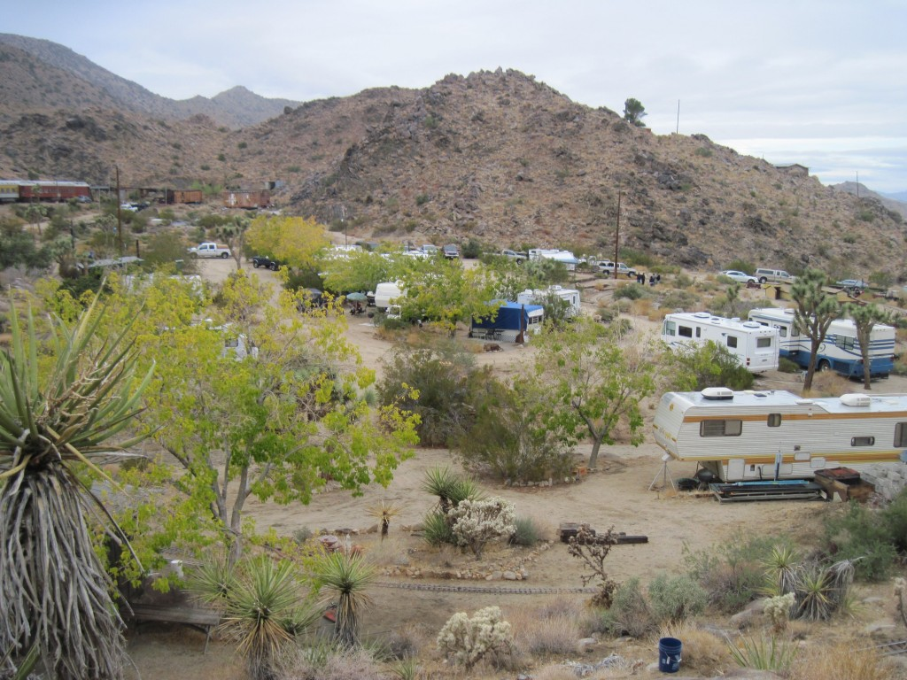 View of the camp site at Joshua Tree & Southern