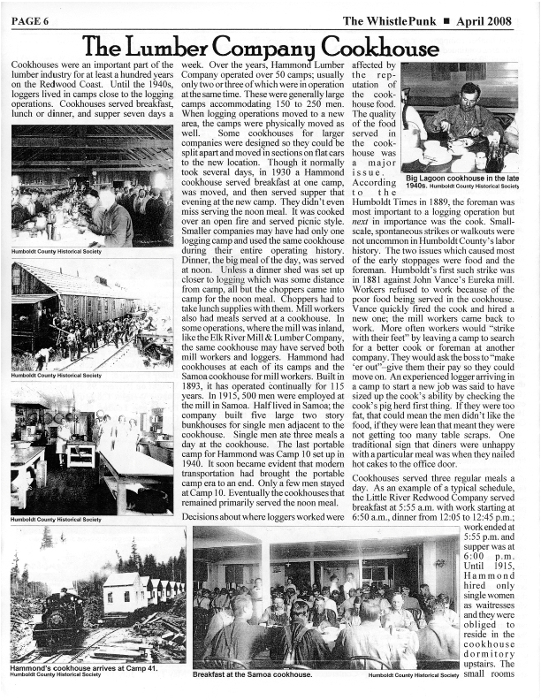 Page 1 of Article in April 2008 issue of the Whistlepunk