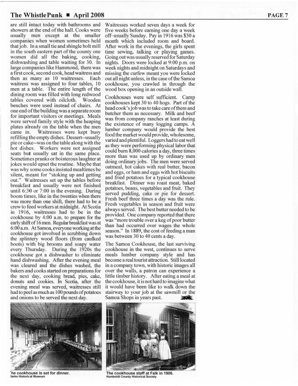 Page 2 of Article in April 2008 issue of the Whistlepunk