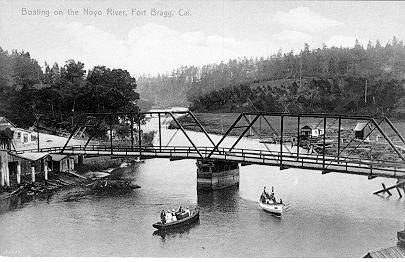 Boating on the Noyo in the 1890's