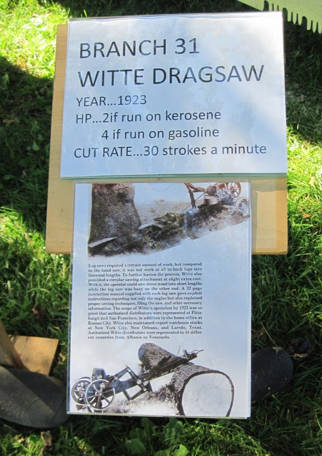 Description of working dragsaw at Roots of Motive Power 2012 Steam-up