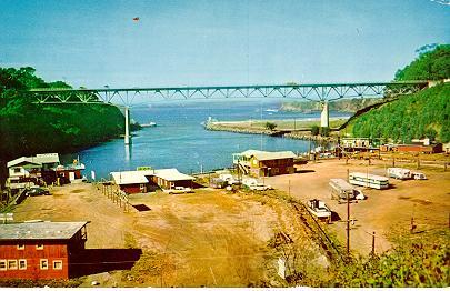 Mouth of the Noyo River after the new high bridge was built
