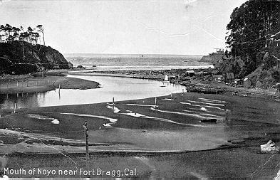 Mouth of the River Noyo in the 1890's