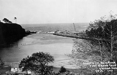 Mouth of the River Noyo in the 1920's