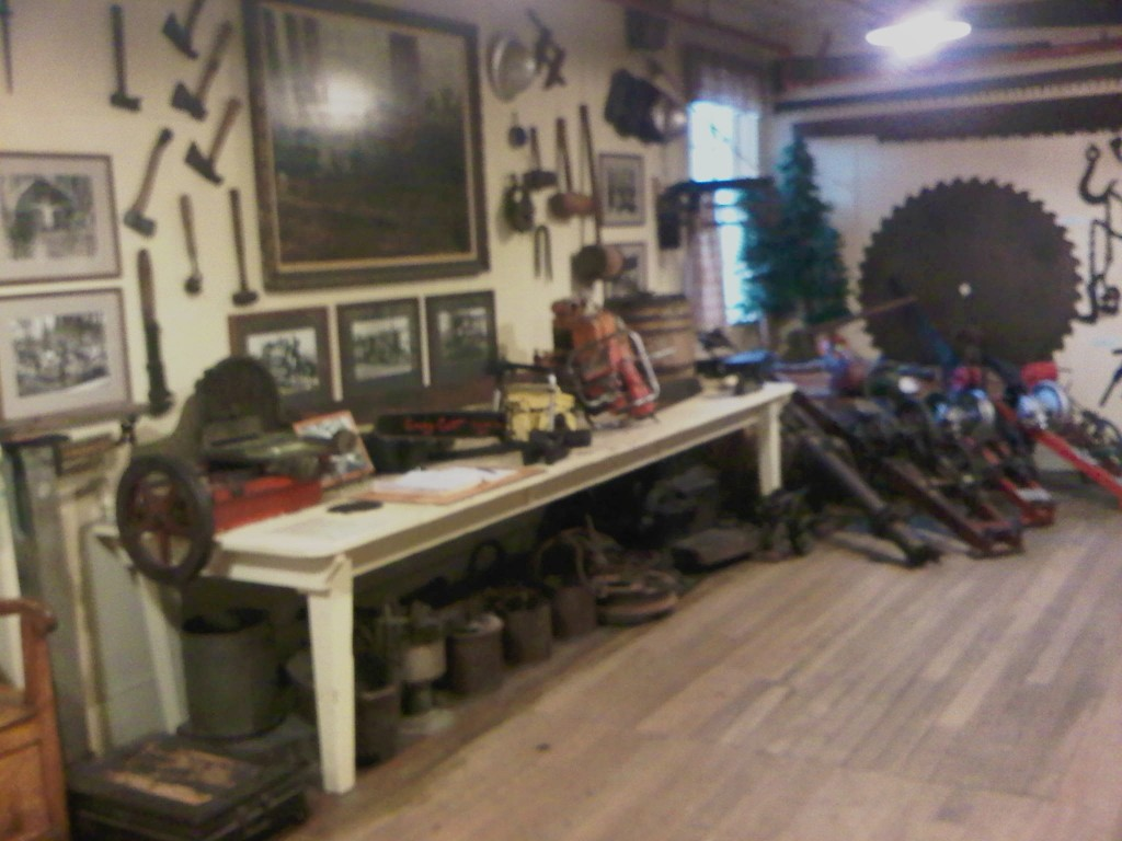 Logging artifacts in the Samoa Cookhouse