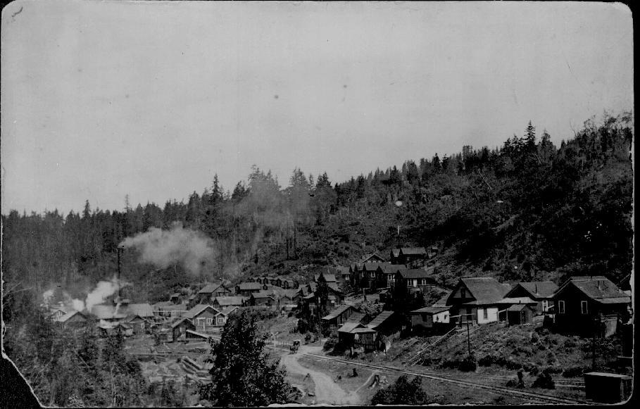The town of Wendling along the railroad which ran to what is now Navarro-by-the-Sea at the mouth of the Navarro River