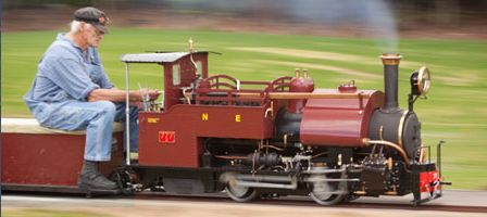 Darjeeling 0-4-0  in seven and a half inch scale.