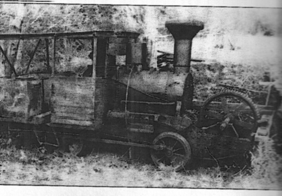 """Dehaven Railroad   0-4-0 """"Falk"""" with Gypsy Winch on front"""