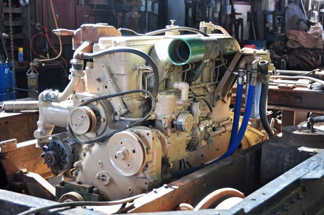 Rebuilt diesel engine for the 90 year old CWR M100 Railbus