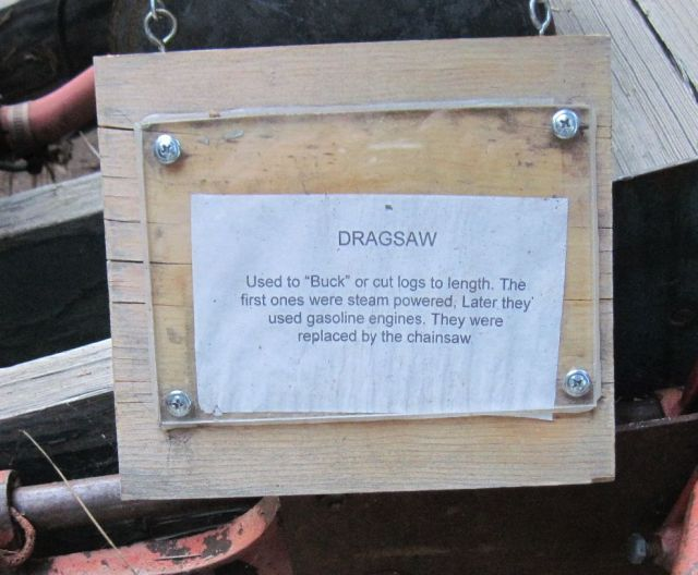Drag saw sign