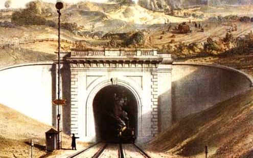 Box-Tunnel when it opened in 1841