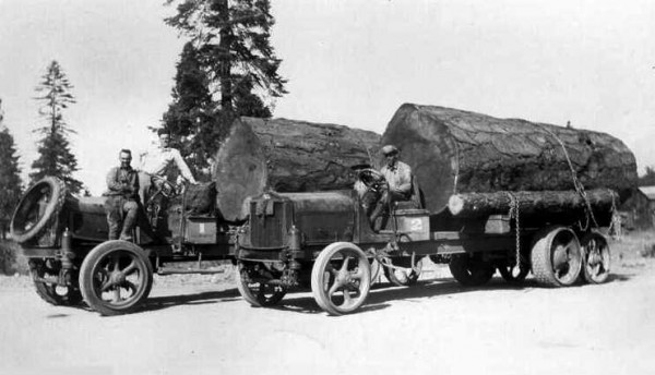 Early Mack Truck with axle