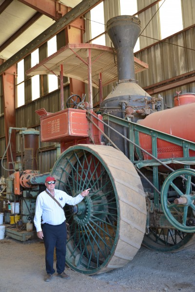 Me standing beside a ginormous steam roller