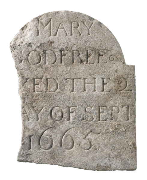 Gravestone found at the site