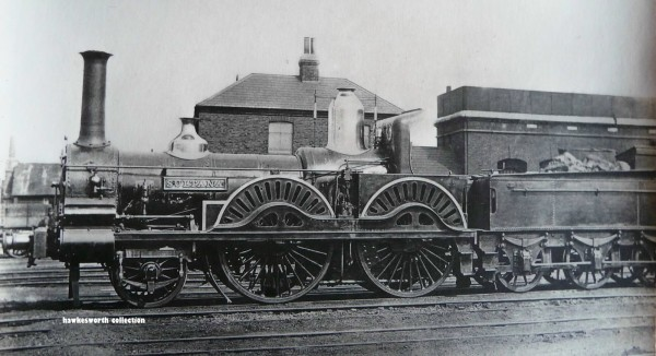 This is a Falcon class 2-4-0 Number 82, designed by Joseph Beattie