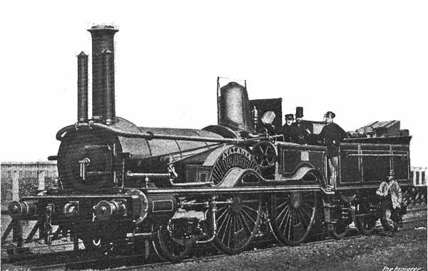 "The ""Atalanta"" 2-4-0 locomotive of the L&SWR."