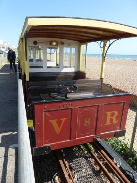 Volks railway car waiting for us to board