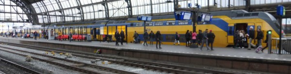 Inter-city train at Amsterdam Centraal