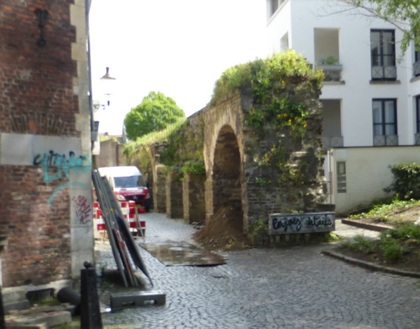 Maastricht's fortified town wall built in the early 12th century - 800 years old