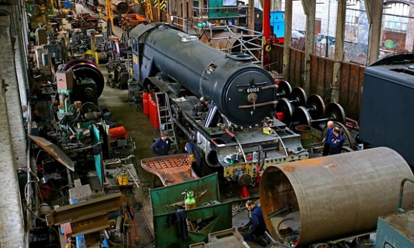 Flying Scotsman undergoing restoration