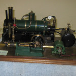 Steam loco converted to stationary steam power