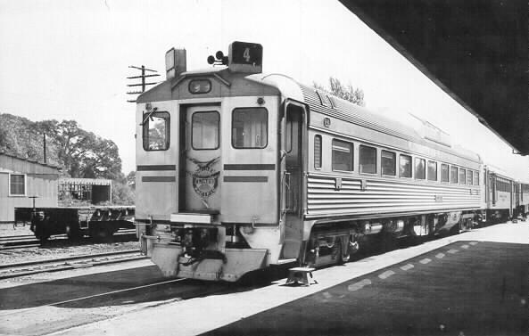 NWP Budd Railcar standing in Willits Station