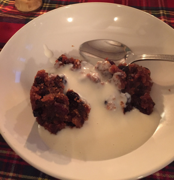 Real christmas pud from M & S in UCK with Roger Thornburns Rum sauce