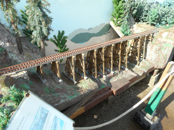 The new Virgin Creek Trestle virtually complete