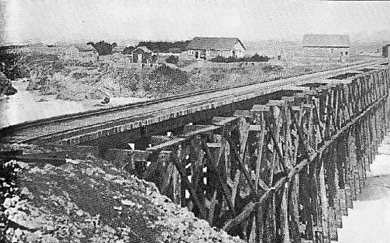 Carlson Farm at the North end of the Pudding Creek Trestle