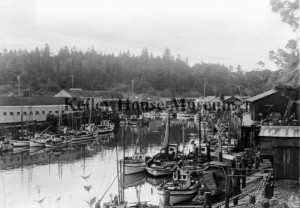 1930 Another view of fishing boats in Noyo harbour