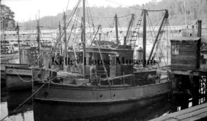 1930 Close up of fishing boats in Noyo harbour