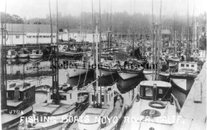 1930 Photo fishing boats in Noyo Harbour