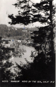 1940 View upstream of Noyo Harbour taken for embankment