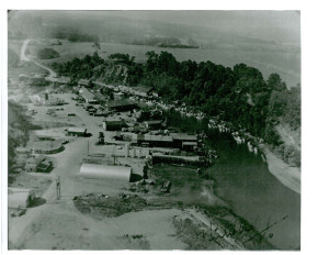 1950 Aerial view of Noyo harbour