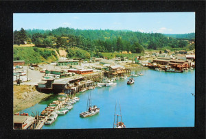 1960 Aerial View of Noyo Harbour