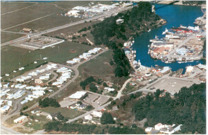 1970 Aerial View of North Bank of Noyo Harbour