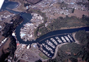 1995 Aerial View of Noyo Basin