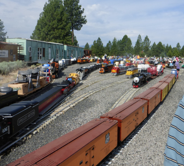 Many of the trains in the Parade