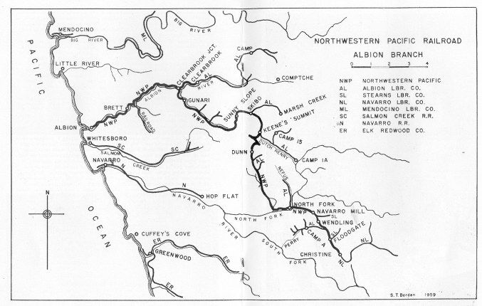 Map of Albion Railroads and New Old Pics of Albion Hobo Laments