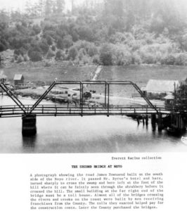 1890 Photo of the second Noyo Bridge