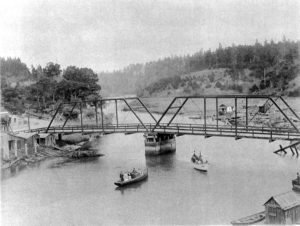 1913 small boats in front of second noyo bridge