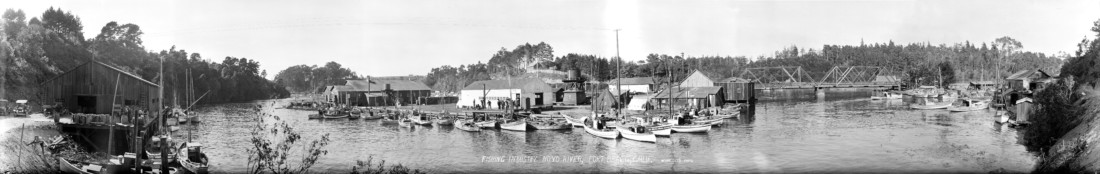 Pictorial history of the six bridges that have crossed the for Fort bragg fishing charters