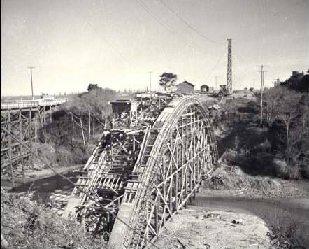 Russian gulch bridge under construction